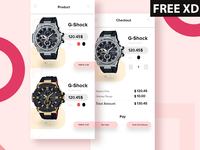 E commerce app concept design