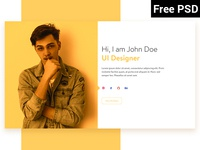 Personal Portfolio (Free PSD)