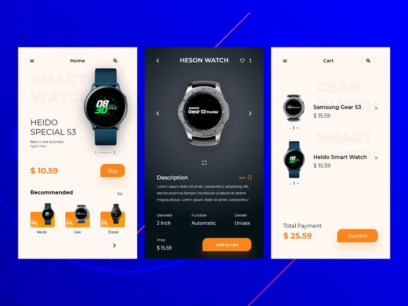 E-commerce App minimal ecommerce app ecommerce