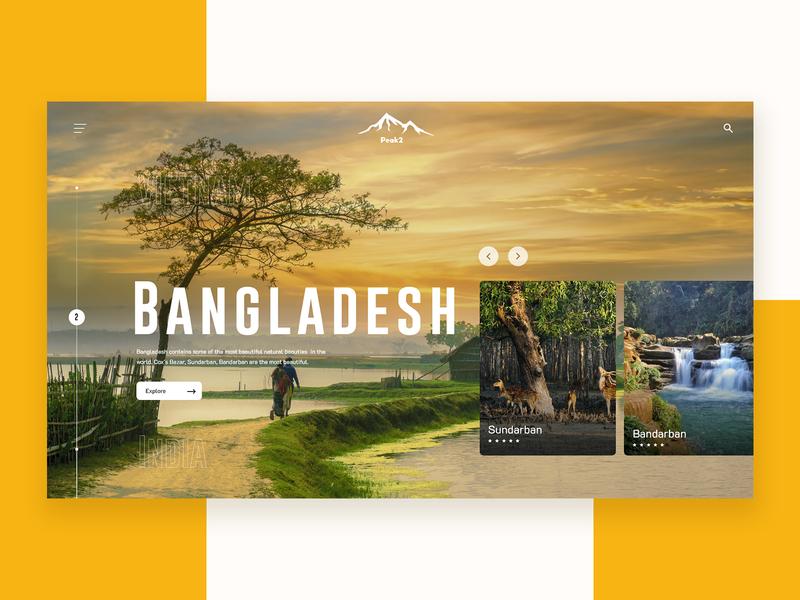 Travel Header Exploration travel ui design website builder inspiration travel website travel ui