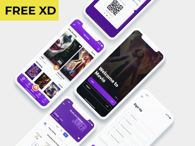 Movie ticket booking app movie app online booking ticketapp appdesign xd design uidesign uikit android ios app ticket movie