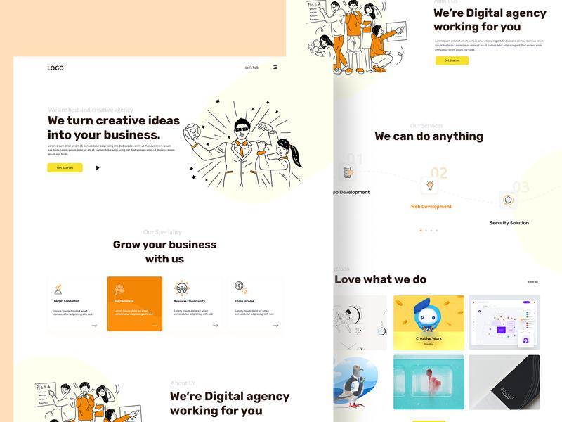 Agency Landing Page uidesign uiux ui  ux ui