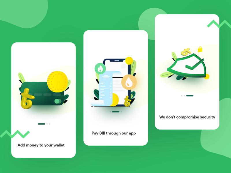 Onboarding Screen uidesign uiux illustration app onboarding app design