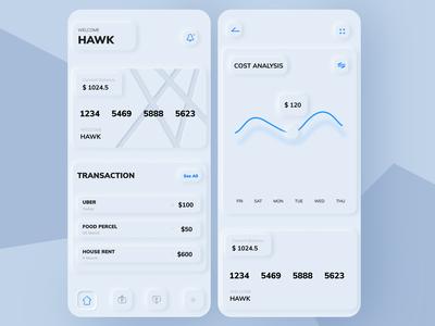 skeuomorphic design: E-wallet app