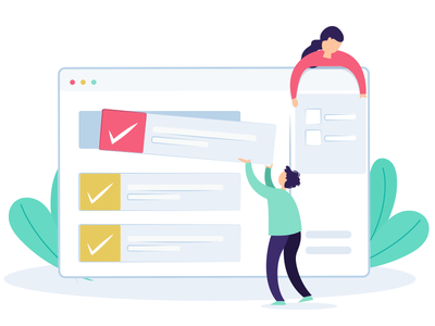 Business Approval graphic ui design illustration