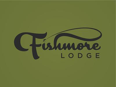 Fishmore Lodge Wordmark vector fishmore lodge lodge fishmore fish fly fishing typogaphy logo