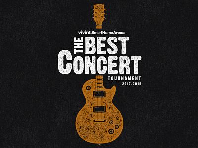 The Best Concert Tournament logo vivint arena logo design art arena