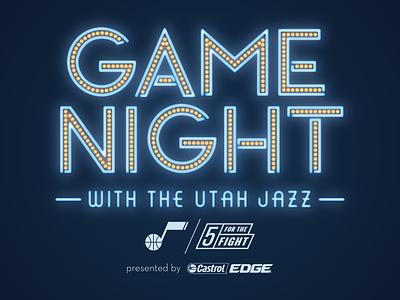Game Night with the Utah Jazz 2017 neon design utah logo jazz game night