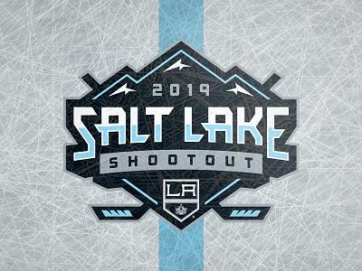 Salt Lake Shootout 2019 typography art la kings kings los angeles arena hockey shootout salt lake logo