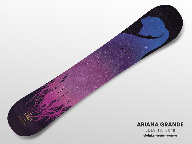 Artist Gifts—Ariana Grande space arena ariana grande snowboard gift
