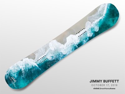 Artist Gifts—Jimmy Buffett jimmy buffett snowboard gift art arena