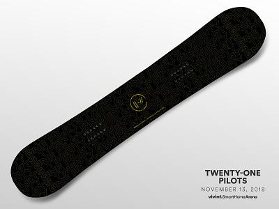 Artist Gifts—Twenty-One Pilots 21 pilots twenty-one pilots design snowboard gift arena