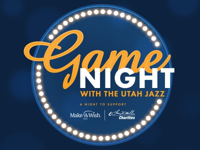 Game Night with the Utah Jazz 2019 make-a-wish design utah logo jazz charity