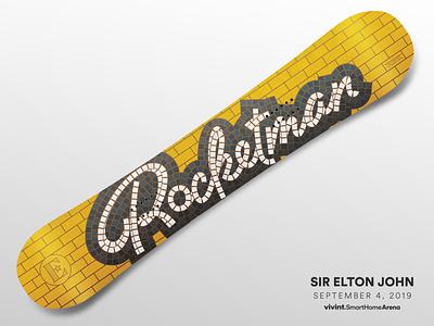 Artist Gifts—Sir Elton John brick tileable elton john snowboard gift design art arena