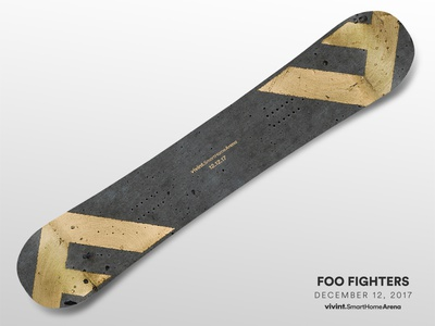 Artist Gifts—Foo Fighters foo fighters art snowboard gift design arena