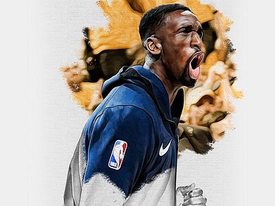 End of Season Illustrations—Ekpe Udoh ekpe udoh art photoshop illustration utah jazz