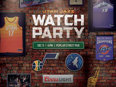 Utah Jazz Watch Party Social Graphic social media coors light bar social pub watch party utah jazz