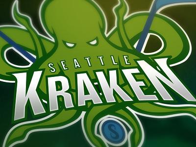 Seattle Kraken Logo Concept concept logo kraken seattle hockey nhl