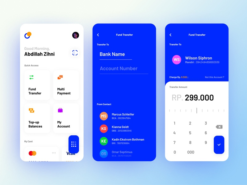 Transfer Money - Bank App design exploration mobile money transfer bill bank ui