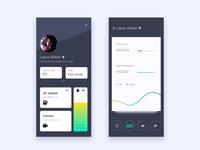 Smart black ios clean cards app ui design smart car