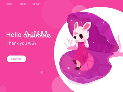 Hello Dribbble llustration logo design ui web