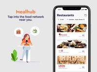 A revolutionising on-demand delivery app illustration order feed food delivery app food app food delivery mobile app product design product app mobile