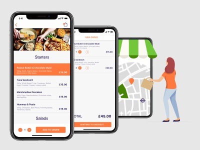 MealHub - Food Delivery - Easy checkout pickup menu checkout food delivery service food delivery app mobile app product design product app mobile