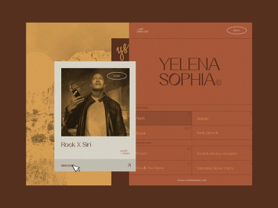 Yelena Sophia Portfolio webflow ux art direction web branding homepage website ui sketch design