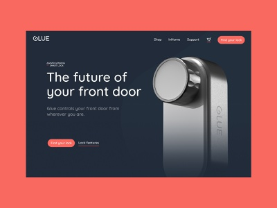 Glue Home ux art direction animated webflow clean branding homepage website ui design