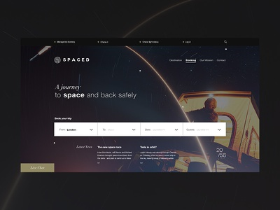 SPACED Concept spacedchallenge website space sketch ui ux design