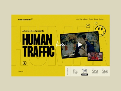 Human Traffic Homepage digital web 2019 art direction branding homepage website ui sketch design