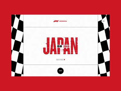 Honda F1 - The Finish Line Is Never The End art direction 2019 animated web branding homepage website ui sketch design