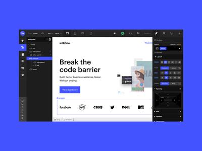 Webflow Re-Design
