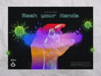 Wash your hands rainbow wash hands virus covid19 covid vaporwave graffiti illustration paper