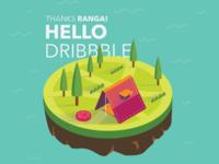 Hello Dribbble!! 🍀