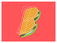 Letter B for 36 days of type
