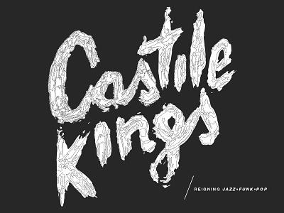 Castile Kings jazz funk type typography lettering outline illustration brush modern typography