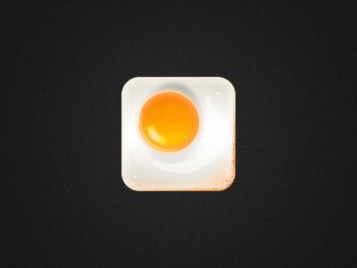 Cooked Egg Icon icon egg ios iphone shiny ipad app romania ios icon