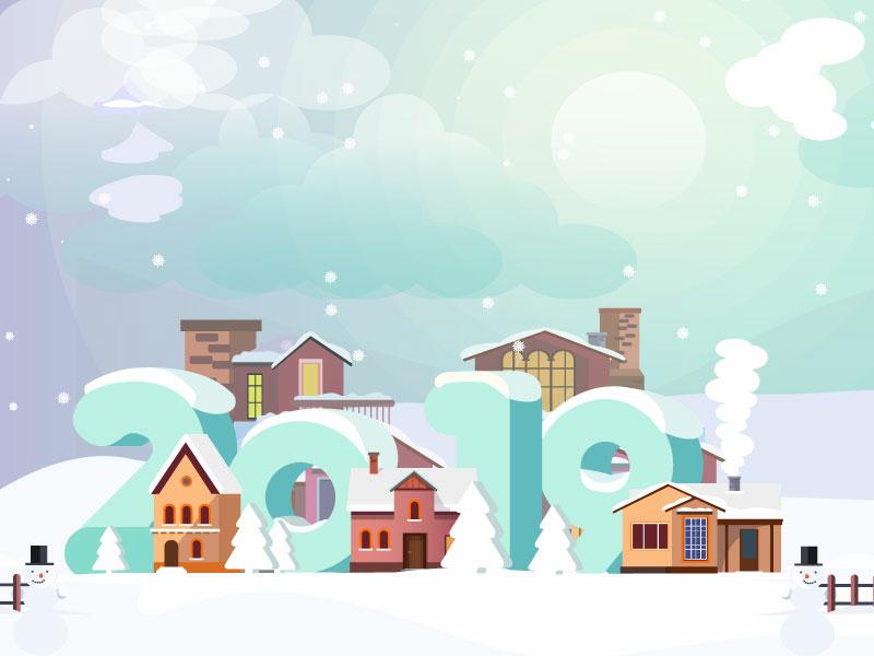 Winter & New Year Illustration! design vector illustration