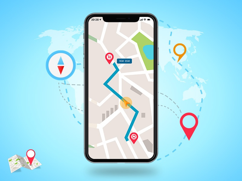 Navigation App Concept concept app mobile ui ios icon branding vector design illustration