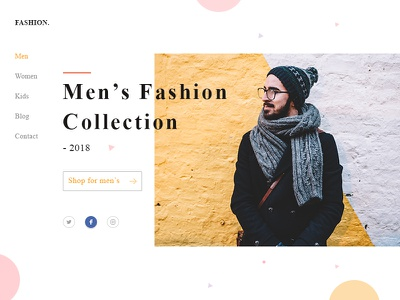 Fashion Landing Page color shopping mens page landing fashion ecommerce