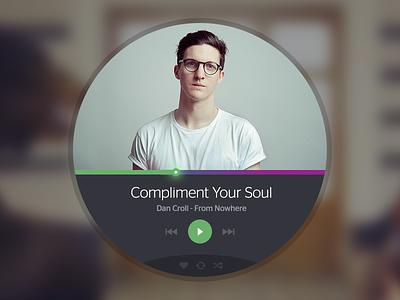 Music Controls (Rebound) ui music player rebound interface widget rdio spotify play controls album art psd free