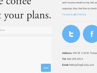 Portfolio contact page