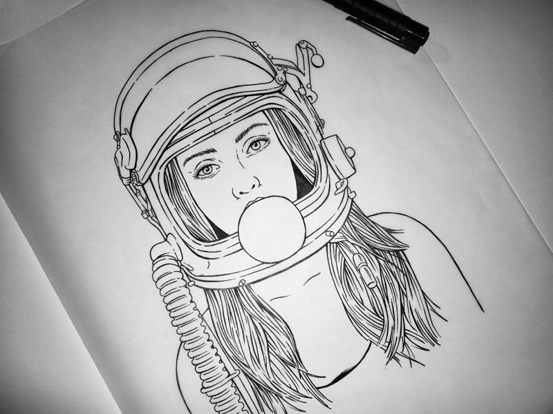 Space Girl Wip By Cait Maloney On Dribbble
