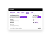 A modal I designed for a sales tool