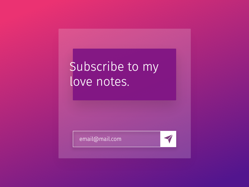 Subscribe to my Love Notes modal form subscribe newsletter