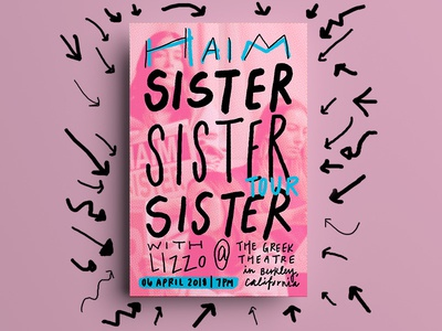 HAIM Tour Poster