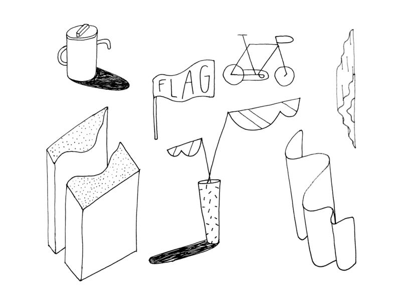 Some Items design illustration sketch sketchbook