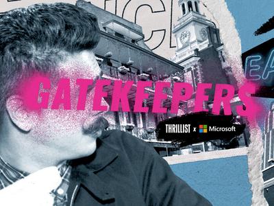 Gatekeepers Title Open thrillist spraypaint collage illustration design