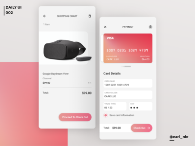 UI Challenge #002 (Credit Card Checkout)